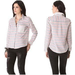 Madewell Red & Blue Striped Boy Shirt